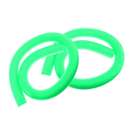 D DOLITY 2 Stück Flexibel Schwimmbad Pool Nudeln Poolnudel Schwimmnudel Kinder Erwachsene Schwimmer Hilfe - Grün