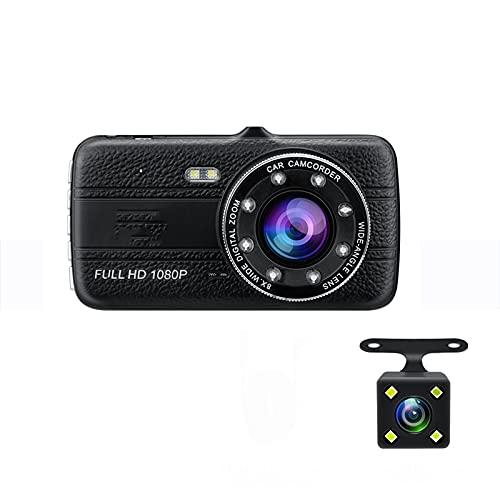 Cámara DVR Para Coche 4.0'Full HD 1080P Dash Cam Auto Registrador Visión Nocturna De Doble Lente Con Cámara De Visión Trasera Grabadora De Video