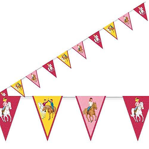 3,5m Wimpelkette * BIBI & TINA * mit 10 Wimpeln für Kinderparty und Kindergeburtstag von DH-Konzept // Blocksberg Deko Partykette Girlande Banner Party Set