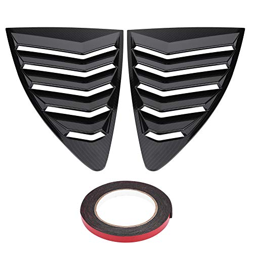 Qiilu Side Window Scoop Louvers 1 Pair Left Right Rear Side Window Carbon Fiber Louver Vent Cover for Toyota 86 GT86 Scion FR-S Subaru BRZ 2013-2018