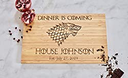 game of thrones handmade gifts ~ cutting board