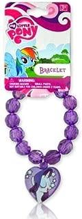 My Little Pony Beaded Bracelet With Rarity Charm
