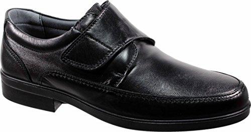 LUISETTI 26854 Negro - Zapato Velcro Piel Profesional Fabricado en España (39 EU, Negro)