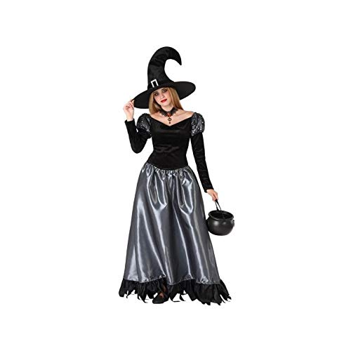 Atosa-61468 Atosa-61468-Disfraz Bruja- ADOLESCENTE- Mujer- gris, Color (61468) , color/modelo surtido