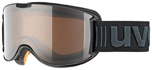 Uvex Erwachsene skyper pola Skibrille, Black Met Mat, One Size