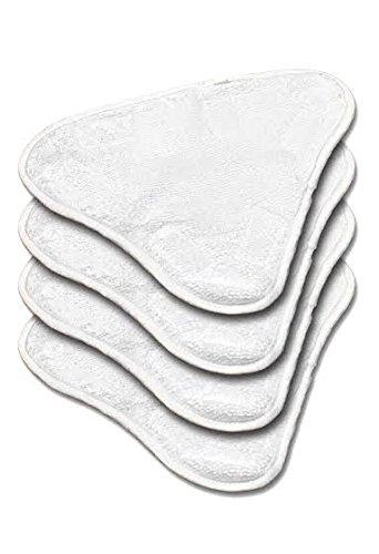 Microfaser Ersatz pads für Dampfreiniger 3 Stück (auswaschbar) für H20, Verkaufsverpackung inklusive Ersatzteilen H20 X5.