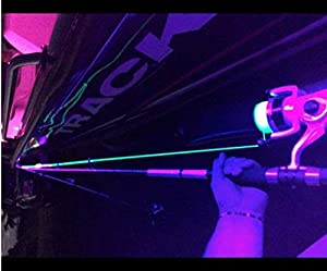 Bright Night 20 Foot UV LED Strip, Black Fishing Light, Fluorescent, Florescent, Ultraviolet Boat bass Fishing 12v dc Priority Shipping Pontoon Kayak John Boat Florescent line Glow