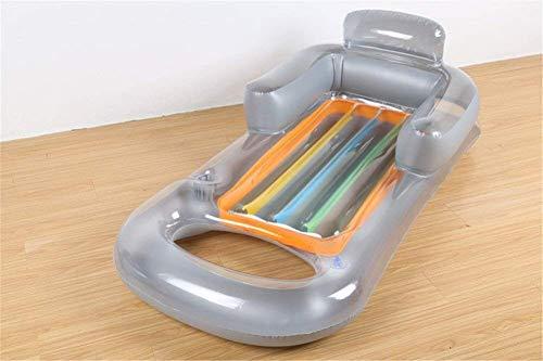 DFKDGL Klapppool Airbeds Water Float Aufblasbarer Wasser-Lounge-Stuhl mit Armlehnen-Sofa Schwimmendes Wasser Schwimmring W Aufblasbare Kinder-Planschbecken