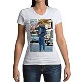 Photo de T-Shirt Femme Col V Retour vers Le Futur Marty McFly Michael J. Fox 60's
