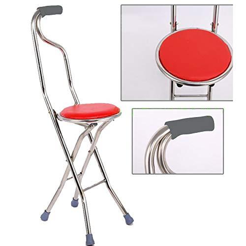LIUJIE wandelstok met zitje in de vrije natuur oude man cane kruk stoel vier vouwen multifunctionele ruimte neemt draagbare stokken met zitting