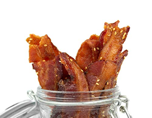 Delicious Uncured Real Bacon Jerky Hand Crafted Small Batch Korean BBQ Paleo Friendly MSG Free Nitrate & Nitrite Free (Korean BBQ Paleo, 6 pack)