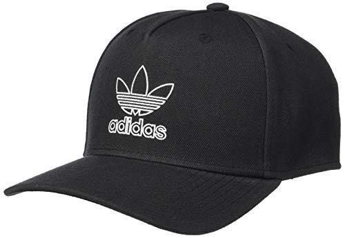 adidas Originals Men's Dart Precurve Snapback Cap, Black/White, ONE SIZE