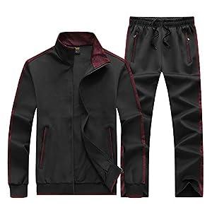 KASUNA Men's Casual Tracksuit Long Sleeve Full-Zip Running Jogging Athletic Sweat Suits Set