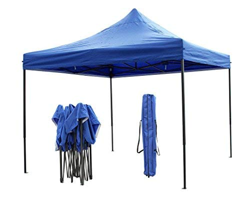 Airwave Gazebos 3x3m Premium Pop Up Gazebo, Heavy Duty, Fully Waterproof with PU Coating, Choice of Colours, Includes Carry Bag and Anchoring Ropes (Blue)