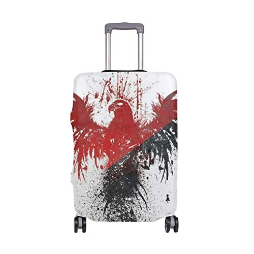 Travel Lage Cover Large Red and White Eagle Belief Suitcase Protector Fits 26-28 Inch Washable Baggage Covers
