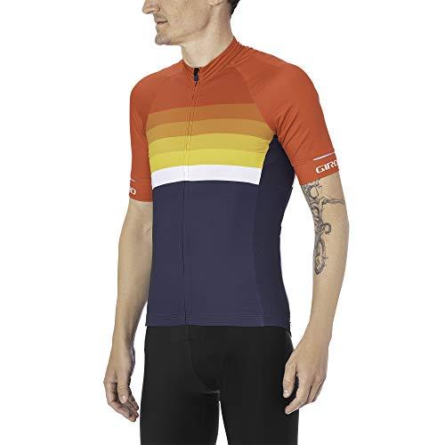 Giro Herren M Chrono Expert Jersey Fahrradbekleidung, Bright red Horizon, XXL