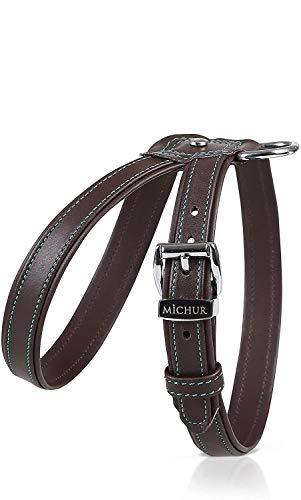 MICHUR Cucciolo Hundegeschirr Leder, Hund Brustgeschirr für Welpen und Kleinhunde, Braun, Leder, in verschiedenen Größen erhältlich