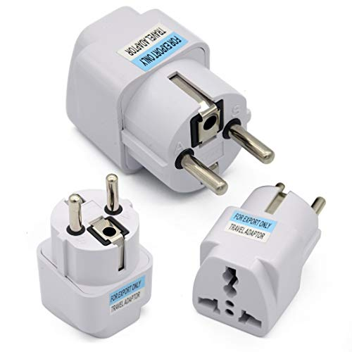 LINKICH 2017 Best Price Universal UK US AU to EU White European Charger Power Socket Plug Power Adapter Travel Converter