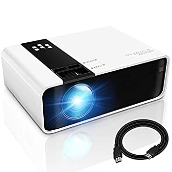 GRC Mini Projector 1080P HD Supported Portable MovieProjectorwith 45000 Hrs LED Lamp Life Compatible with TV StickVideo GameHDMIUSBAVDVDfor Multimedia Home Theater Projector for outdoor