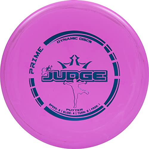 Dynamic Discs Prime EMAC Judge Disc Golf Putter   Great Putt and Approach Frisbee Golf Disc for Beginners   Designed by Disc Golf World Champion Eric McCabe   170g Plus (Pink)