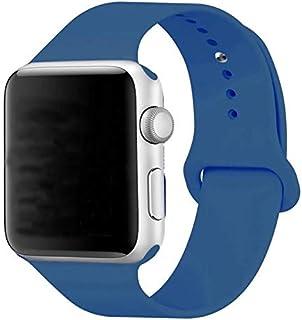 Silikon Klockarmband Apple Watch, 42mm, Duvblå