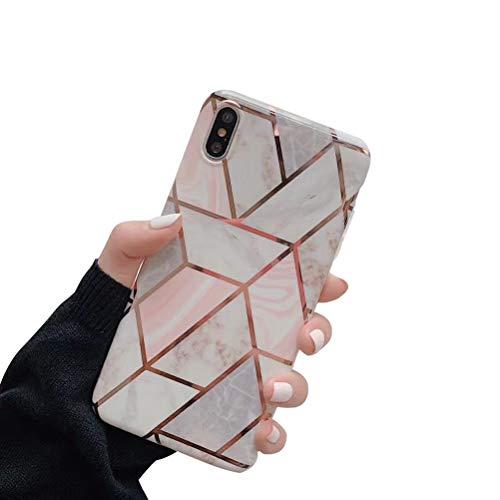 CXvwons Hülle iPhone XS MAX, Case iPhone XS MAX Handyhülle Weich TPU Silikon Mode Chic 3D Bling Muster Bumper Cover Schutzhülle iPhone XS MAX Kratzfest Ultra dünn Hülle Tasche für iPhone XS MAX