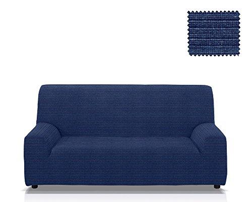 Elastische Sofa-Husse Moraig Größe 3 Sitzer (Von 170 bis 210 cm), Farbe Blau (Mehrere Farben verfügbar)