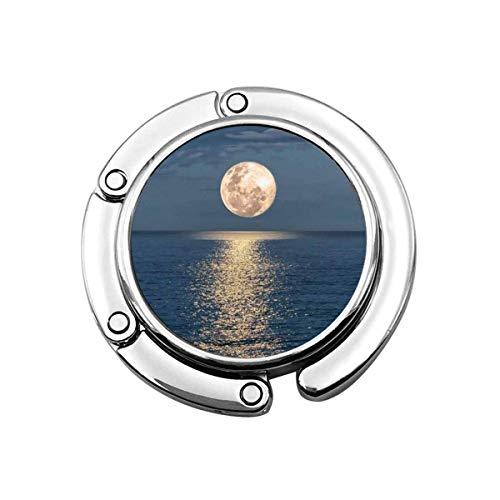 Bolso Gancho Luna Brillante en el Mar Estampado Encanto Bolso Bolso Mesa Escritorio Bolso Ganchos- Gancho Soporte
