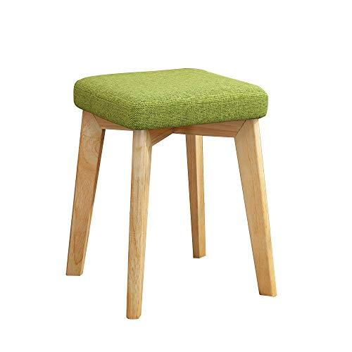 FYMDHB886 Barkruk Kleine vierkante kruk Make-up kruk Houten stoel thuis eetkruk Volwassen stof zachte gezichtskruk Multifunctionele toonbank Stoel lounge stoel, Size, A