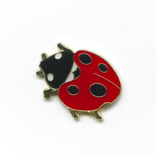 Marienkäfer Ladybug Insekt Tiere Glücksbringer Metall Button Pin Anstecker 0498