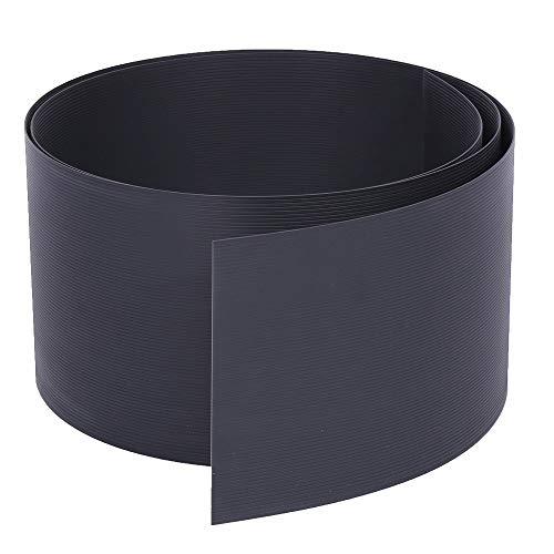 Rapid Teck® 10x Premium Hart-PVC Sichtschutzstreifen Anthrazit RAL-7016 Grau Zaun Sichtschutz für Doppelstabmattenzaun Zaunblende - sehr stabil - Keine Folie - 19cm Höhe x 2,525m Länge