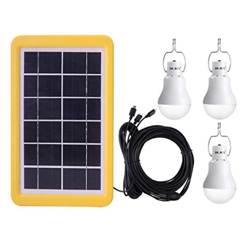 HYY-AA Notbeleuchtung Lampe Panel Photovoltaik Kit Solar Powered Birne für Zuhause Camping Outdoor