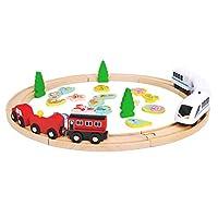 iplusmile 電気リモコン電車 電車模型 電車のおもちゃ おもちゃ 子供 教育玩具(電気代は電池なし)