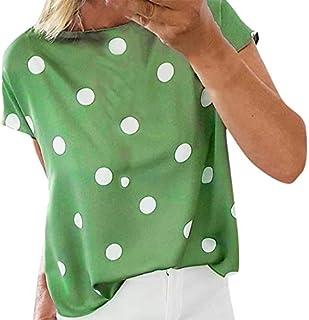 Blouses for Women Fashion 2019 Womens Summer Sleeveless Casual Polka Dot Printed T Shirt Tank Top Blouse