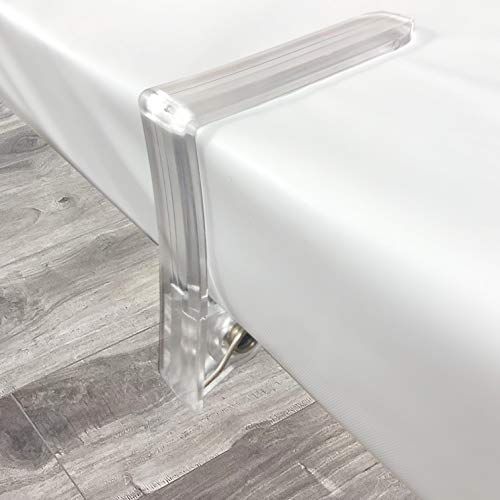 Clear Plastic Tablecloth Clips, Table Cover Transparent Clamps, Picnic Table Holder, Reusables, for Parties, Outdoor, Set of 6