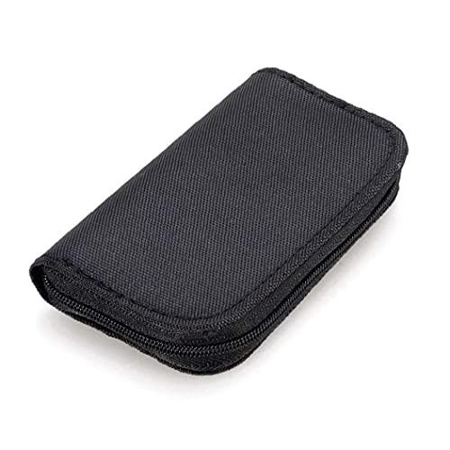Hainice 22 Slots Speicherkarten-Tasche wasserdicht SD-Kartenhalter-Tragetasche für Micro SDHC SDXC TF Nützliche SIM-Karte CF-Black