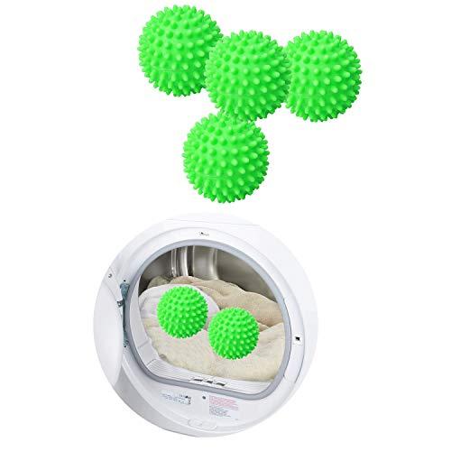 Balles de Sèche-Linge Boule de Lavage Boules de Séchage Balles de Séchage Lavage Boule à Linge Balle de Lavage Sèche-Balles de Séchages Boule Sèche-linge Balle Lave-Linge Réutilisables 4Pcs Vert