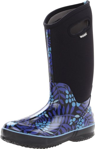 Bogs Women's Classic High Winterberry Waterproof Insulated Boot,Blue,6 M US