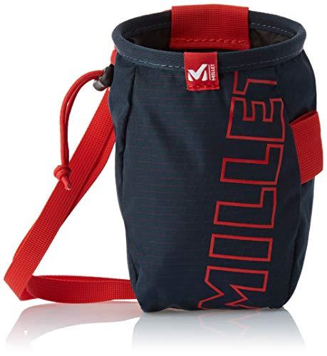 Millet - Ergo Chalk Bag - Sacco per magnesite - Ergonomico e resistente - Arrampicata - Colore: Nero/Rosso