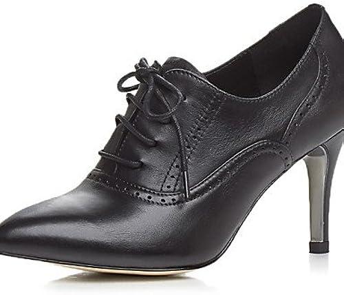 GGX  Chaussures Femme-Bureau & Travail   Habillé   Décontracté   Soirée & EvéneHommest-Noir-Talon Aiguille-Talons   Confort   Nouveauté   A Bride