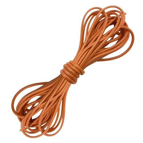 Janly - Cuerda de algodón encerado, cuerda de joyería para manualidades, 2 mm, para collar de 10 m, para bricolaje en el hogar, G, L