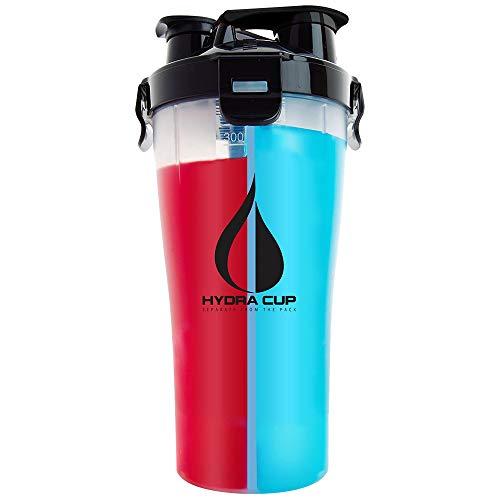 Hydra Cup - 30oz Dual Threat Shaker Bottle, Shaker Cup + Water Bottle, 2 in 1, Leak Proof, Awesome Colors, Save Time & Be Prepared, OG Clear/Black