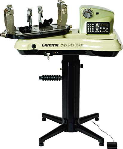 Gamma Professional 6900 ELS Tennis Racquet Stringing Machine: Standing Racket String Machine, Tools and Accessories Included – Tennis, Squash, Badminton, 2pt SC Suspension Mounting System