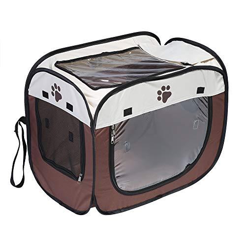 Fdit Socialme-EU Caja de Secado de Pelo para Mascotas Plegable Portátil Secadora de Cachorros Jaula de Manos Limpieza de Cabello Gatos Perros