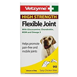 A once a day tasty chicken bite that helps promote supple and mobile joints, containing Omega 3 proven to help maintain supple joints as well as a healthy heart Also contains chondroitin and glucosamine to help with lubricating joints and the formati...