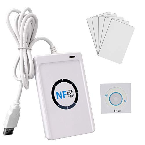 OBO HANDS ACR122U NFC-Programmierer RFID USB Kontaktloser Smart Reader & Writer + 5pcs MF S50 IC-Karte + Kostenlose SDK-Software