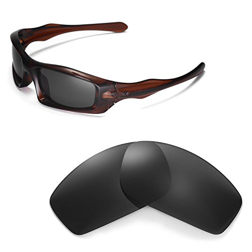 Walleva Replacement Lenses for Oakley Monster Pup Sunglasses - Multiple Options Available (Black - Polarized)