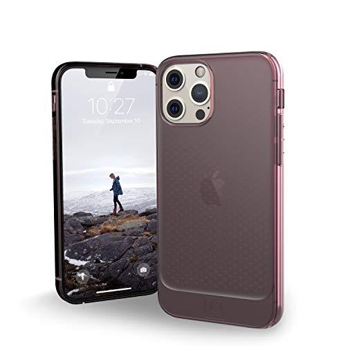 "U by UAG [U] Lucent Case Apple iPhone 12 / iPhone 12 Pro (6,1"") Funda Protectora (Semitransparente, Compatible con la Carga inalámbrica, Resistente a los Golpes) - Dusty Rose (Transparente)"