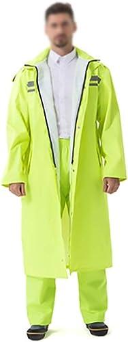 Double épaisseur imperméable Simple Mode Hommes et Femmes en Plein air à Capuche Longue Veste Coupe-Vent imperméable Poncho