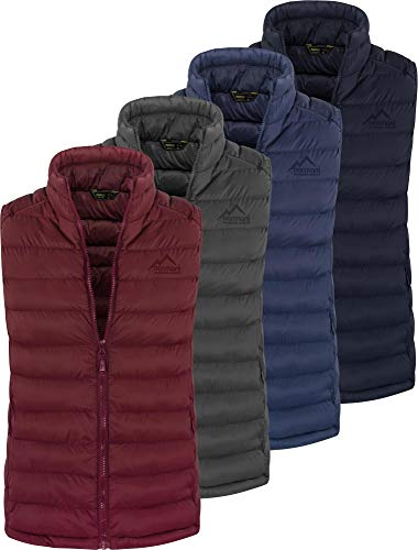 normani Wattierte Damen Steppweste - Bodywarmer Weste - Funktional und Elegant, ideal für Outdoor, Büro und Alltag - anschmiegsame Passform, Winddicht, stark wasserabweisend Farbe Schwarz Größe L